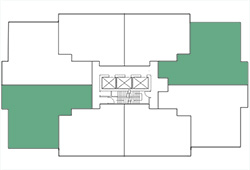 Building Map, 2 Bedroom, Plan A