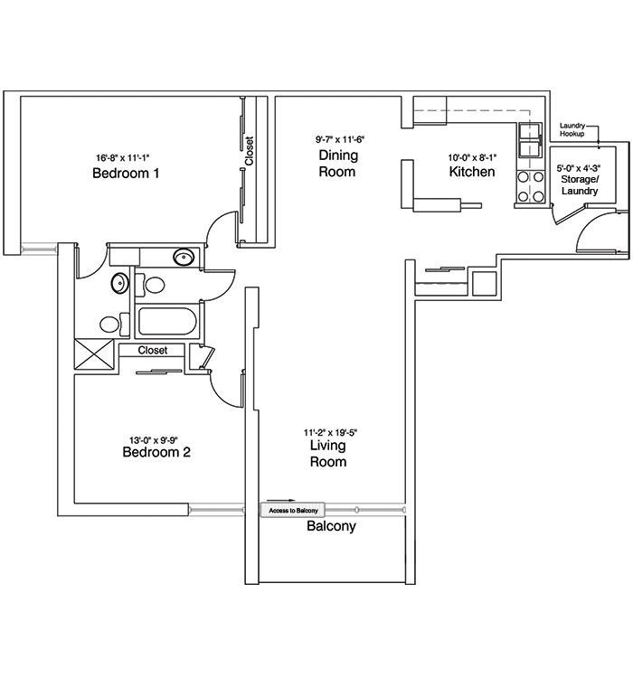 2 Bedroom Suite, Plan A