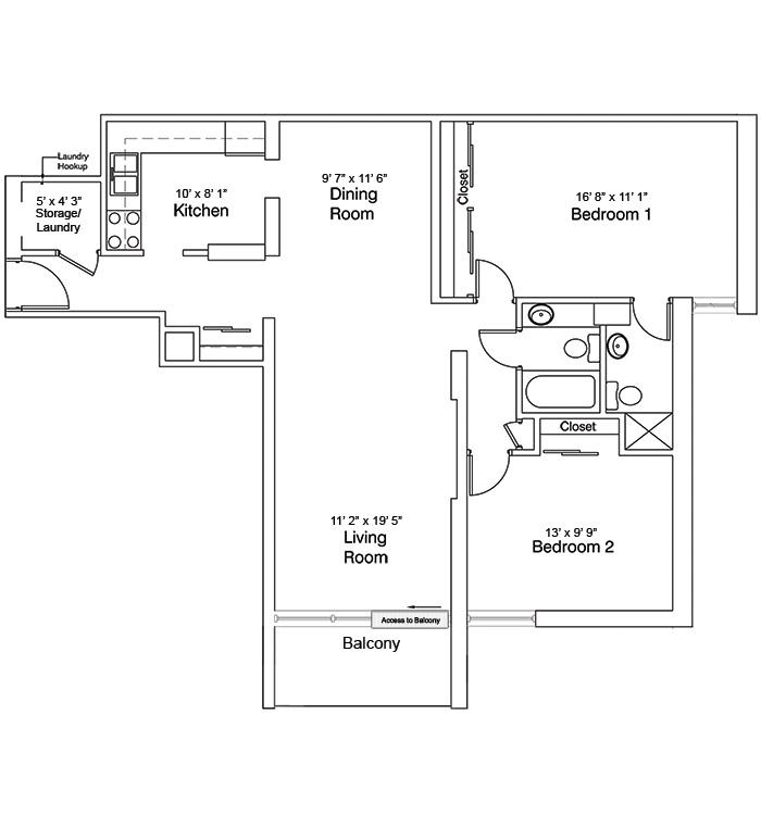 2 Bedroom Suite, Plan B